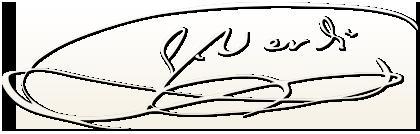 Giuseppe Verdi Unterschrift
